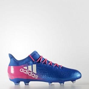 Zapatillas Adidas para hombre x 16.2 césped natural azul/footwear blanco/shock rosa BB5634-597