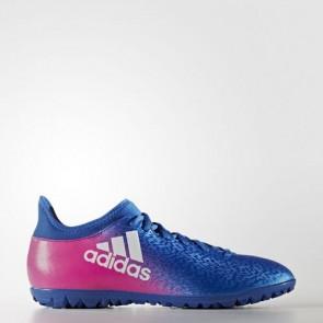 Zapatillas Adidas para hombre x 16.3 calle o moqueta azul/footwear blanco/shock rosa BB5665-611
