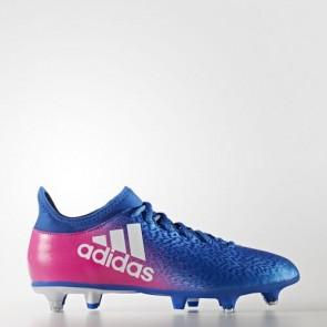 Zapatillas Adidas para hombre x 16.3 césped natural azul/footwear blanco/shock rosa BB5649-613