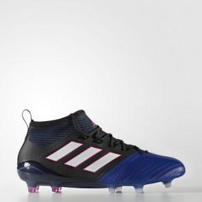 Zapatillas Adidas para hombre ace 17.1 leather césped natural core negro/footwear blanco/azul BB4315-618