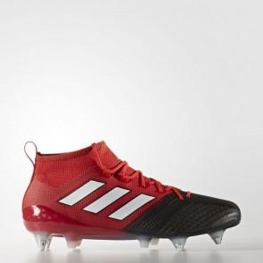 Zapatillas Adidas para hombre ace 17.1 leather césped natural rojo/footwear blanco/core negro BA9188-627