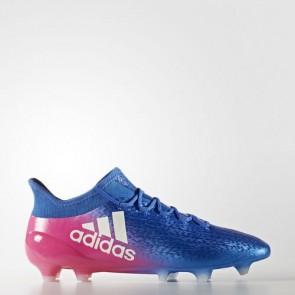 Zapatillas Adidas para hombre x 16.1 césped natural azul/footwear blanco/shock rosa BB5619-636