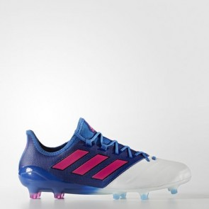 Zapatillas Adidas para hombre ace 17.1 leather césped natural azul/shock rosa/footwear blanco BB4321-639