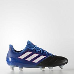 Zapatillas Adidas para hombre ace 17.1 leather césped natural azul/footwear blanco/core negro BA9192-640
