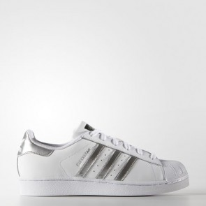 Zapatillas Adidas para mujer super star footwear blanco/silver metallic/core negro AQ3091-010