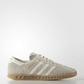 Zapatillas Adidas para mujer hamburg marrón claro/off blanco/gum BB5110-018