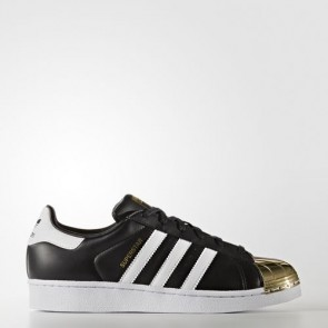 Zapatillas Adidas para mujer super star 80s core negro/footwear blanco/gold metallic BB5115-061