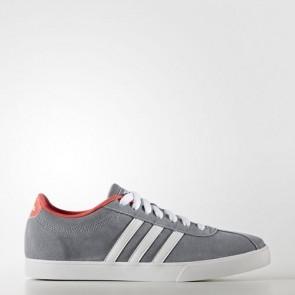 Zapatillas Adidas para mujer courtset gris/footwear blanco/shock rojo B74557-070