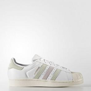 Zapatillas Adidas para mujer super star footwear blanco/linen verde/ice violeta BB2142-072