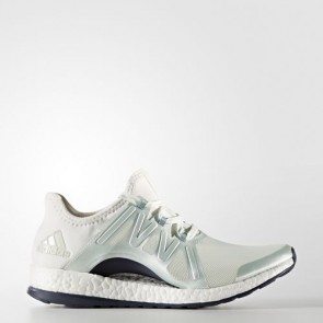 Zapatillas Adidas para mujer pure boost xpose linen verde/vapour steel/crystal blanco BB1732-090