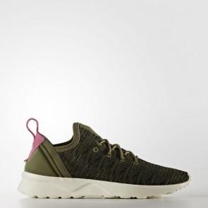 Zapatillas Adidas para mujer zx fluxvirtue olive cargo/core negro/shock rosa BB2316-104
