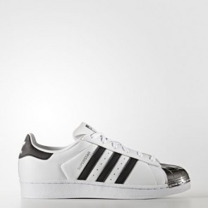 Zapatillas Adidas para mujer super star 80s footwear blanco/core negro/silver metallic BB5114-109