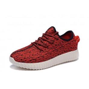 Zapatillas unisex Adidas Yeezy boost 350 rojo/blanco_042